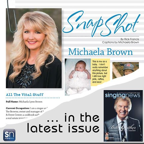 Singing News Snapshot – Michaela Brown